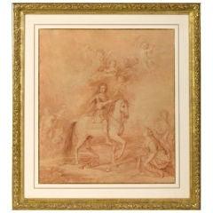 Drawing, 18th Century English School, Portrait of William III