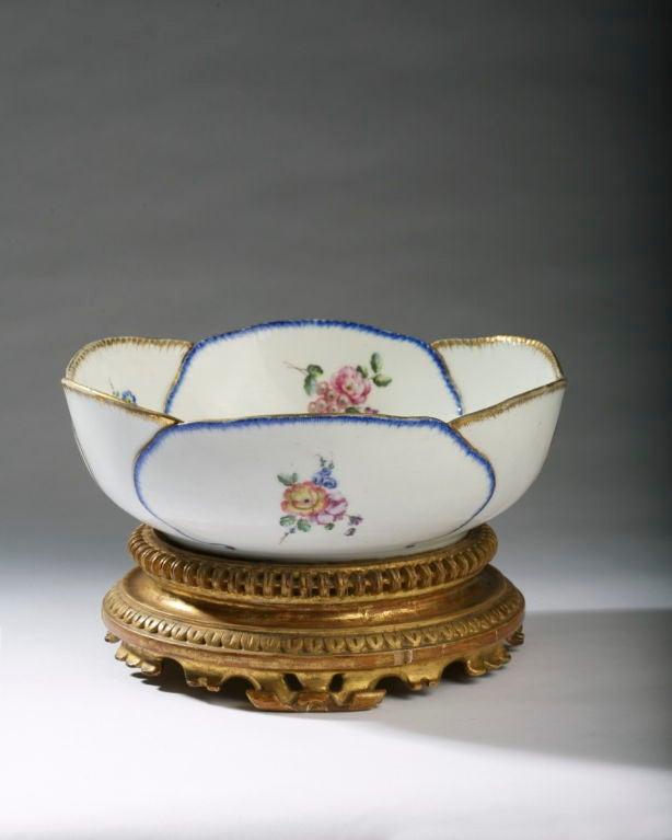 Sevres Porcelain Feuille De Choux Oval Bowl At 1stdibs