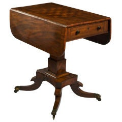 Regency Rosewood and Mahogany Drop-Leaf Games Table
