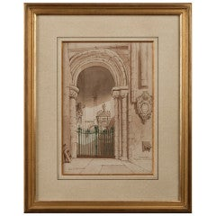Watercolor signed by the 4th Earl of Aylesford (1751-1812)