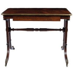 Regency Gilt Bronze Mounted Rosewood Writing Table