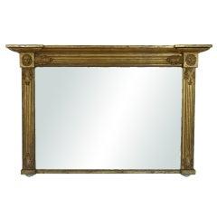 William IV Neoclassical Giltwood Overmantel Mirror