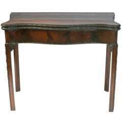 George III Mahogany Game Table