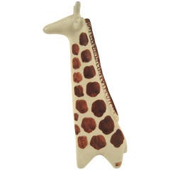 Mid-Century Modern Pottery Arabia Giraffe Sculpture, Finland, circa 1965