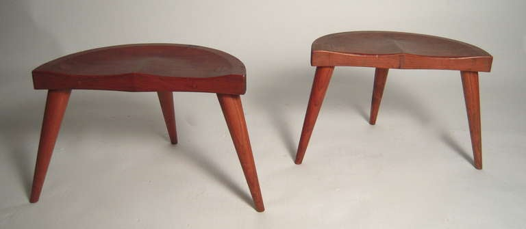 Pair Of Quot Park Avenue Milking Stools Quot At 1stdibs