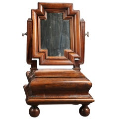 Dutch Baroque Style Walnut Dressing Table Mirror