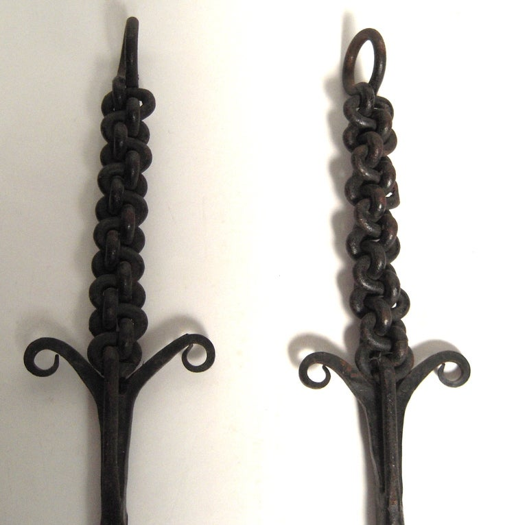 Unusual Wrought Iron Fireplace Tool Set image 6