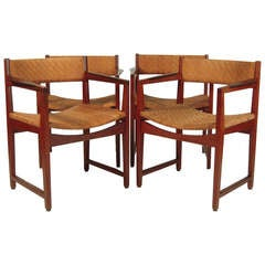 Set of 4 Danish Teak and Rosewood Armchairs by Peter Hvidt and Orla Mølgaard-Nielsen