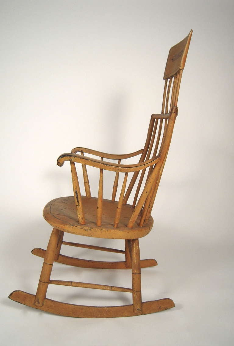 19th century american painted windsor rocking chair at 1stdibs