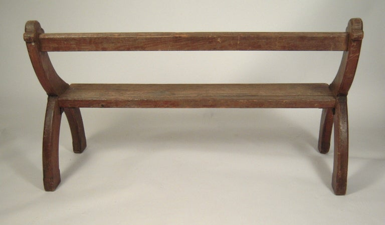 Pair of Country Gothic Revival Benches 6