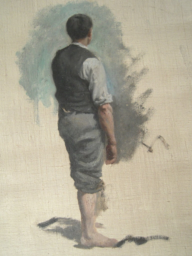 3 William Edward Norton Oil On Canvas Figure Studies For Sale 2