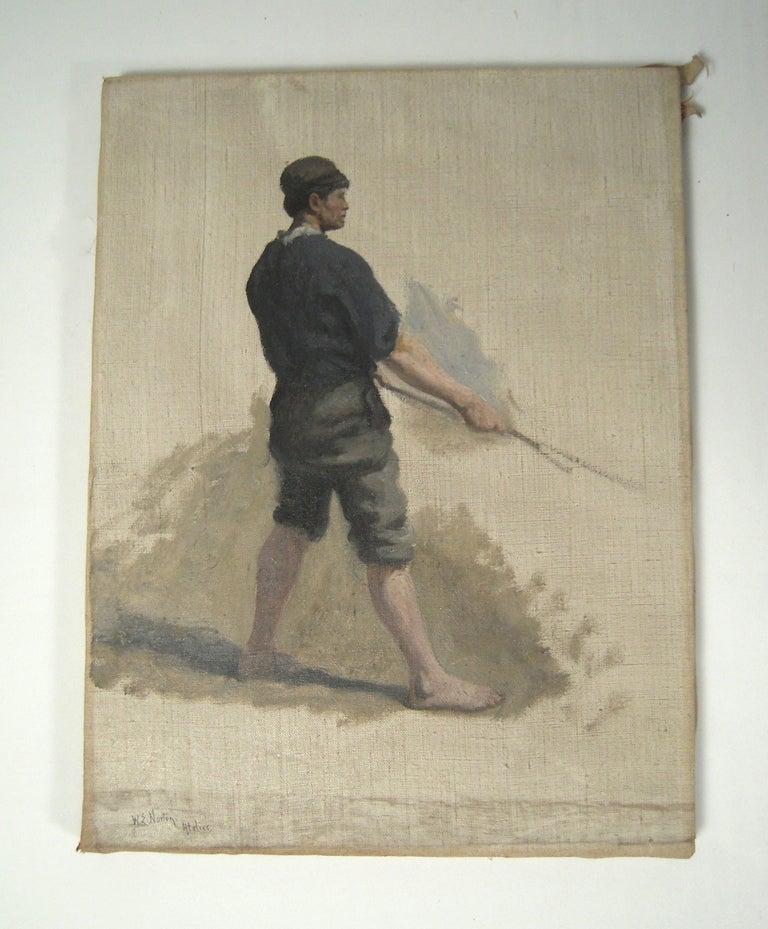 19th Century 3 William Edward Norton Oil On Canvas Figure Studies For Sale