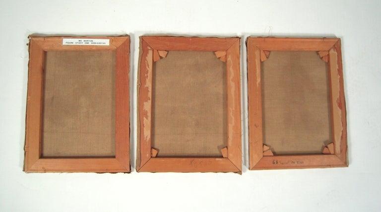 3 William Edward Norton Oil On Canvas Figure Studies For Sale 5