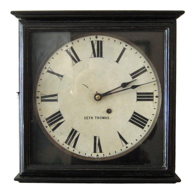 19th c style seth thomas gallery wall clock at 1stdibs