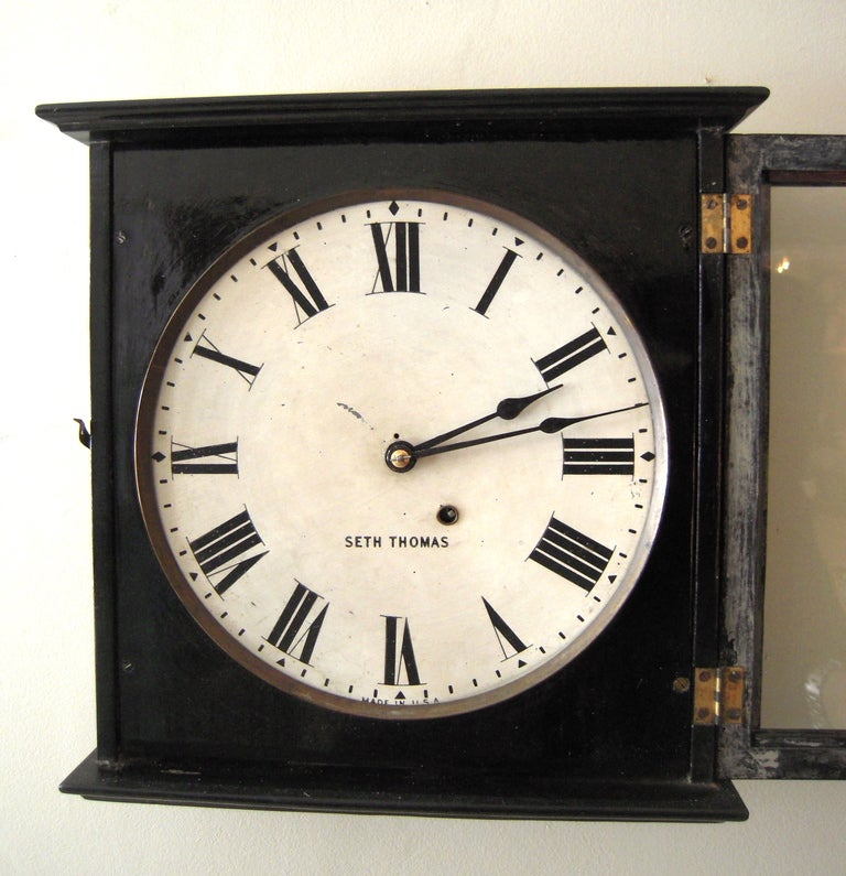 19th c style seth thomas gallery wall clock at 1stdibs for Seth thomas wall clocks value