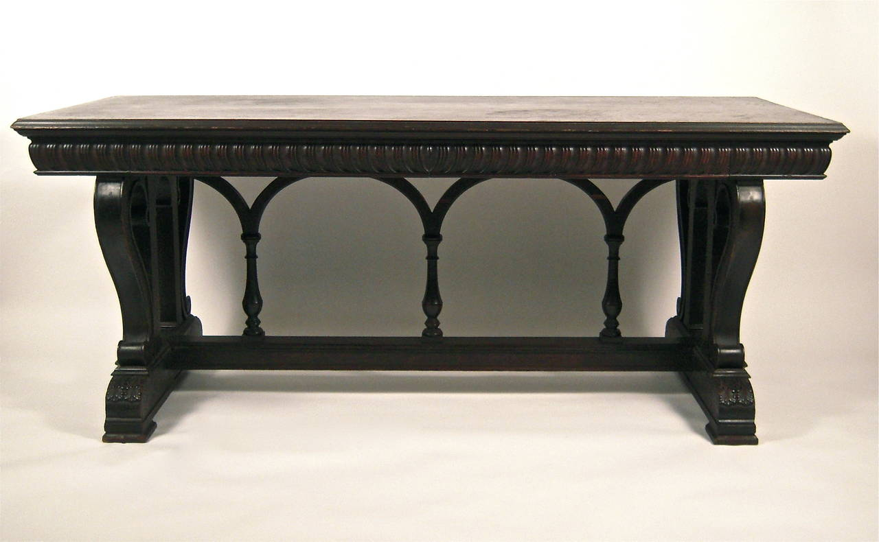 Neoclassical Style Desk Or Sofa Table At 1stdibs