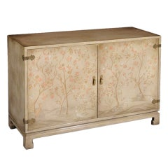 Stylish Painted and Lacquered Side Cabinet