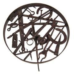 Artfully Designed Blacksmith's Iron Occasional Table
