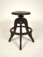 Industrial Swivel Top Stool image 2