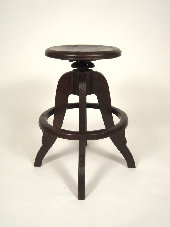 Industrial Swivel Top Stool 2