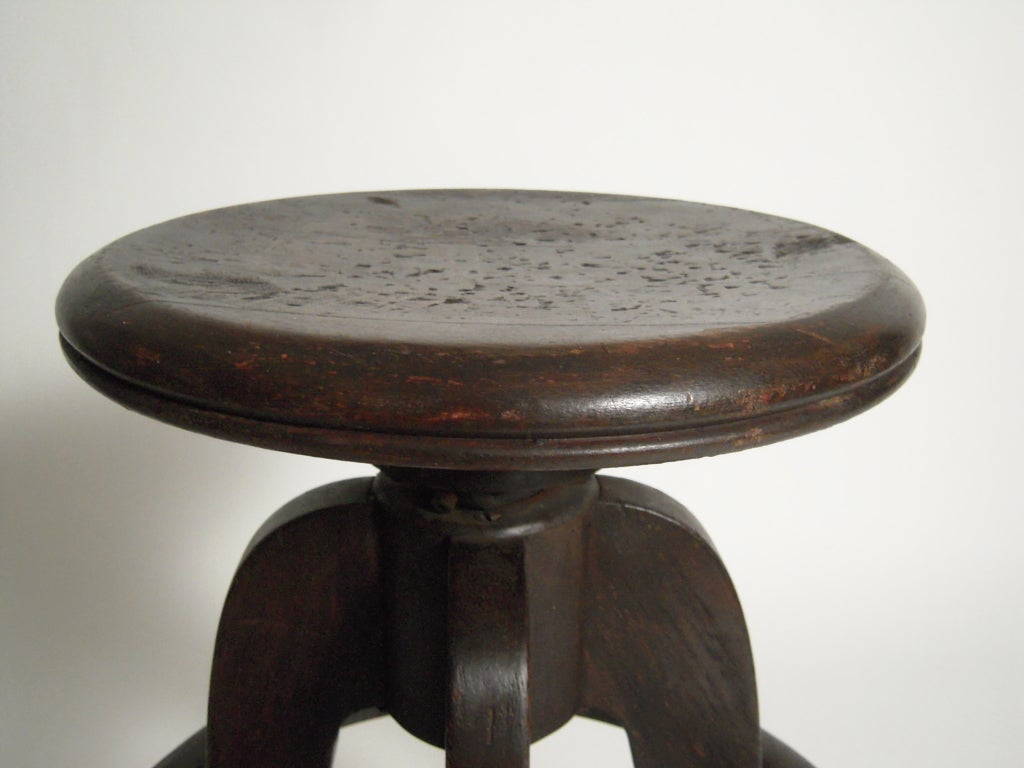 Industrial Swivel Top Stool 3