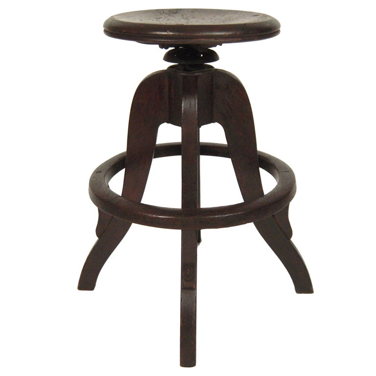 Industrial Swivel Top Stool 1