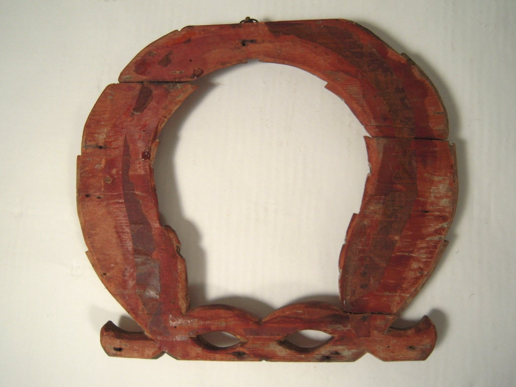 Pair of 19th C American Carved Wood Laurel Wreath Architectural Ornaments For Sale 2