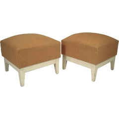 Pair of Stylish French Ottomans