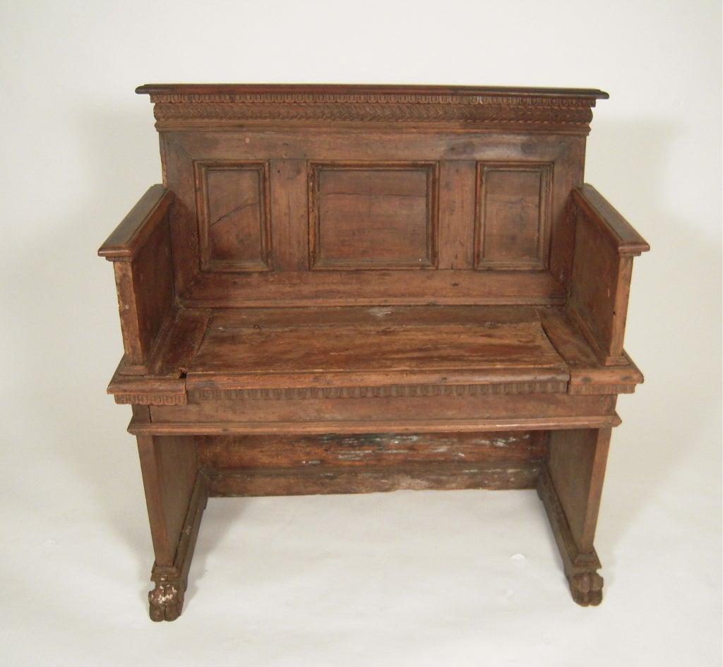 18th Century Italian Classical Walnut Bench At 1stdibs
