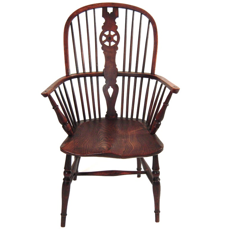 English Wheel Back Windsor Arm Chair At 1stdibs