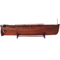 Beautifully Detailed Large Model of a Chebacco Boat, circa 1890-1910