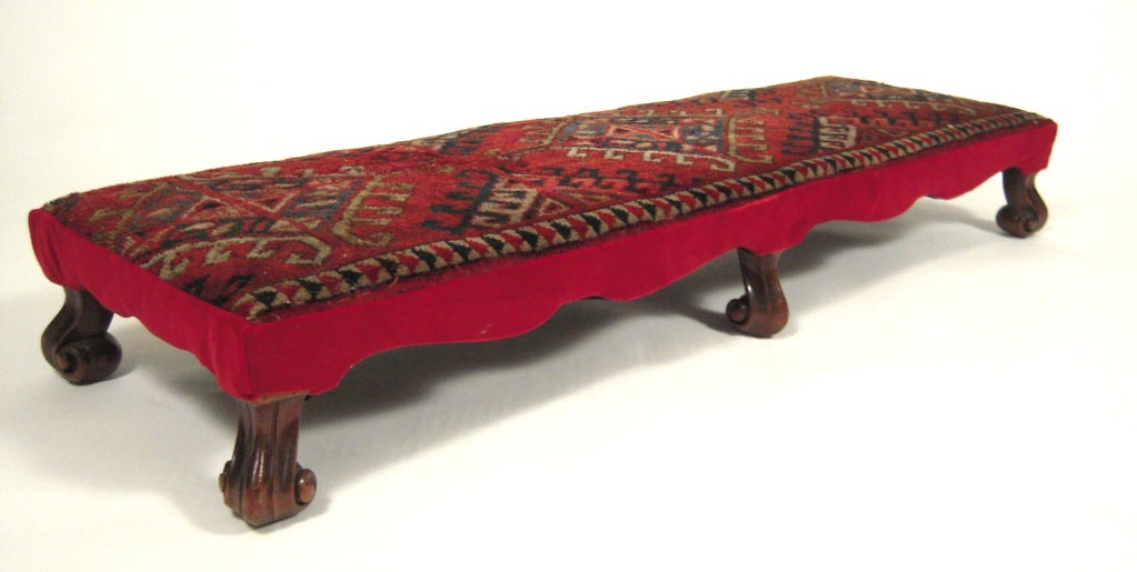 Baroque Style Long Foot Rest Or Low Bench At 1stdibs