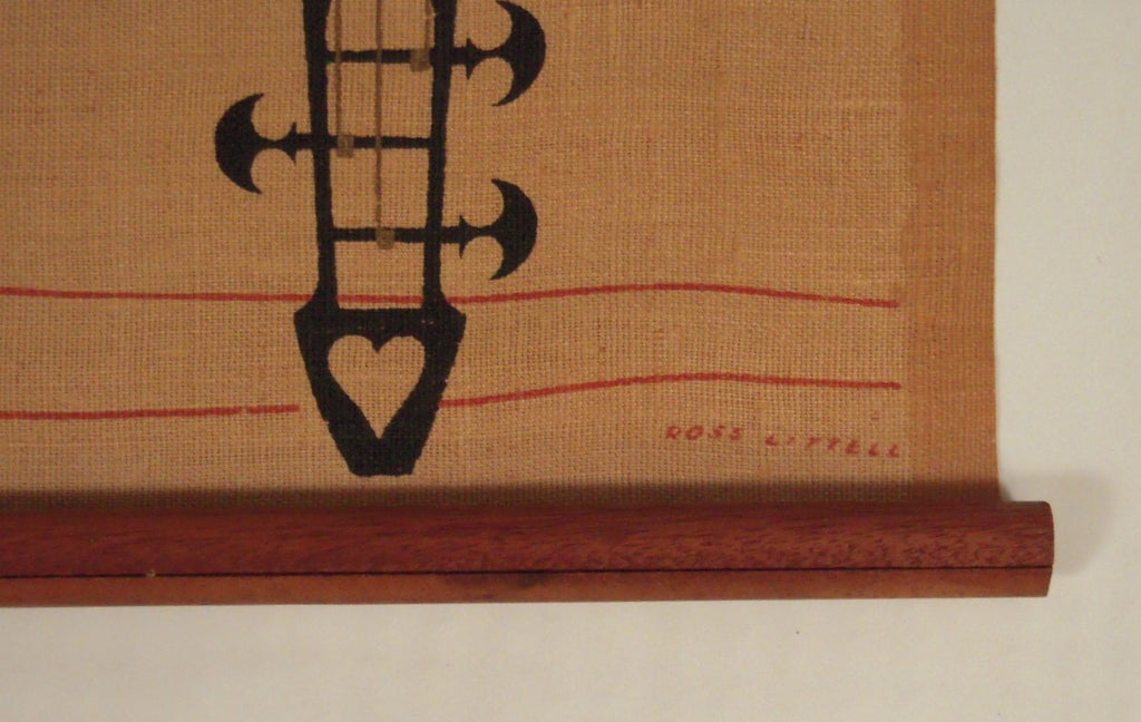 Wall Decor From Ross : Pair of ross littell mid century wall hangings at stdibs