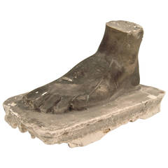 Neoclassical Style Grand Tour Plaster Foot Sculpture