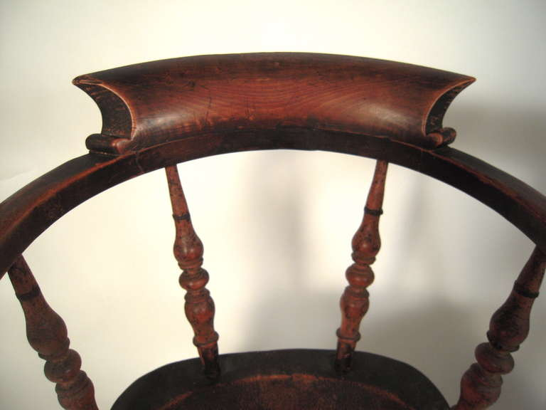 Pair Of 19th Century American Windsor Captain S Chairs At