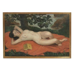 Large Painting of a Female Nude, circa 1935
