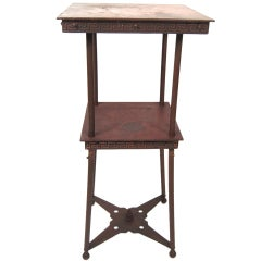 Copper Plant Stand or Occasional Table