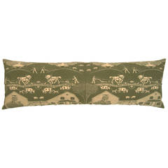 New England Farm Hand Block Printed Pillow