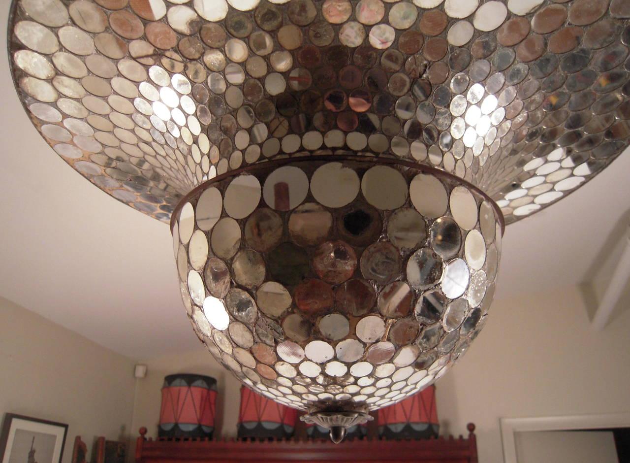Rare Working Mirrored Stardust Ballroom Light Early Disco