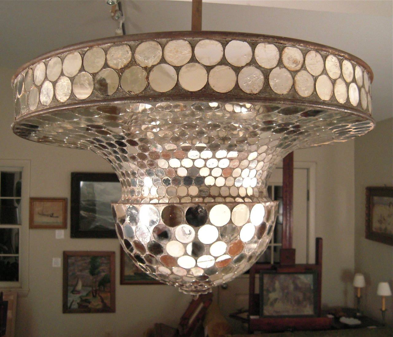 Rare Working Mirrored Stardust Ballroom Light, Early Disco Ball at ...