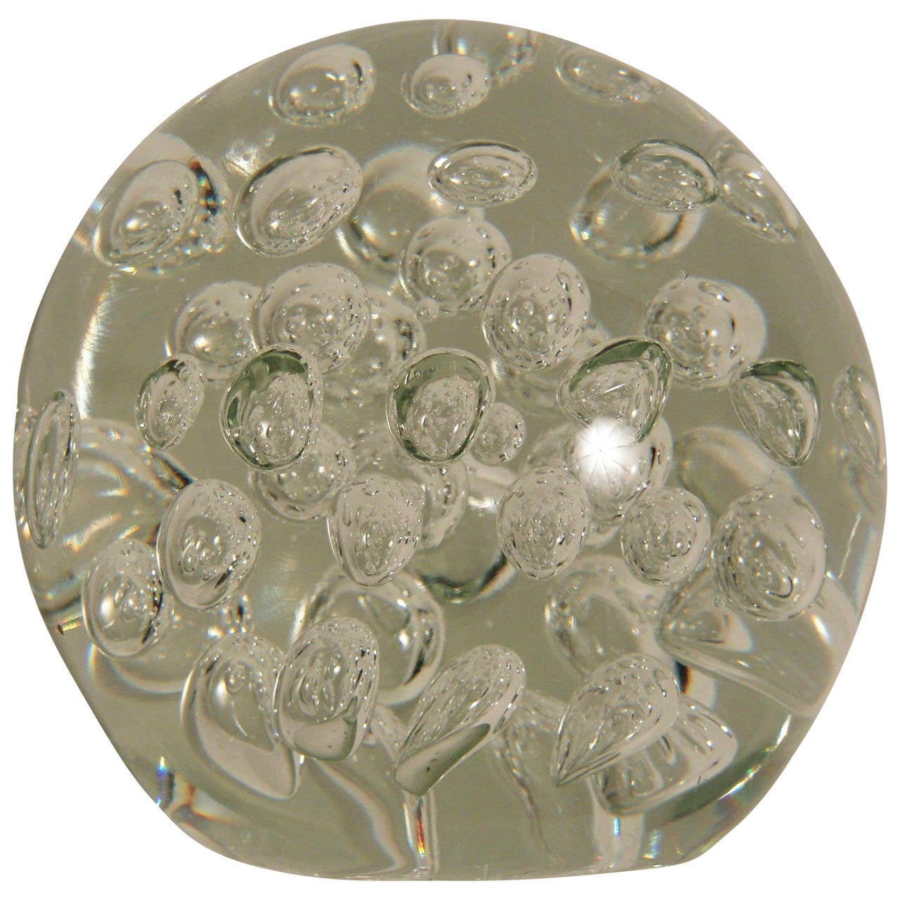 Large Glass Bubble Paperweight Or Doorstop For