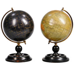 Unusual Pair of Small Celestial and Terrestrial Globes