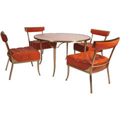 Billy Haines Party Table with  Four Original Chairs