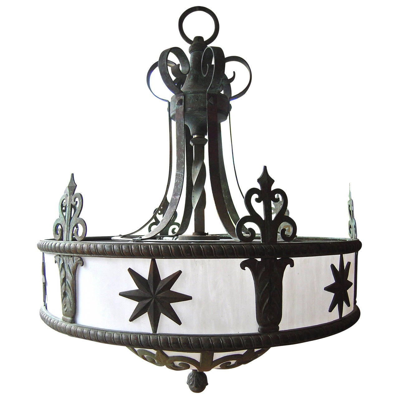 Art deco period chandelier from a new york theater at 1stdibs for Art deco period