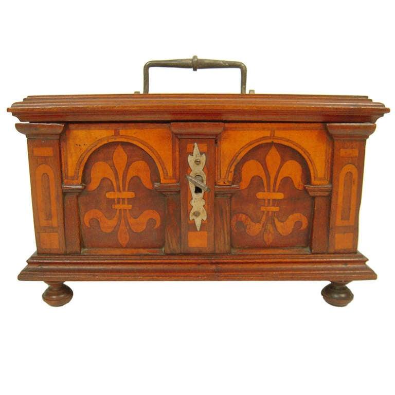 A Swiss Inlaid Renaissance Revival Wood Box At 1stdibs