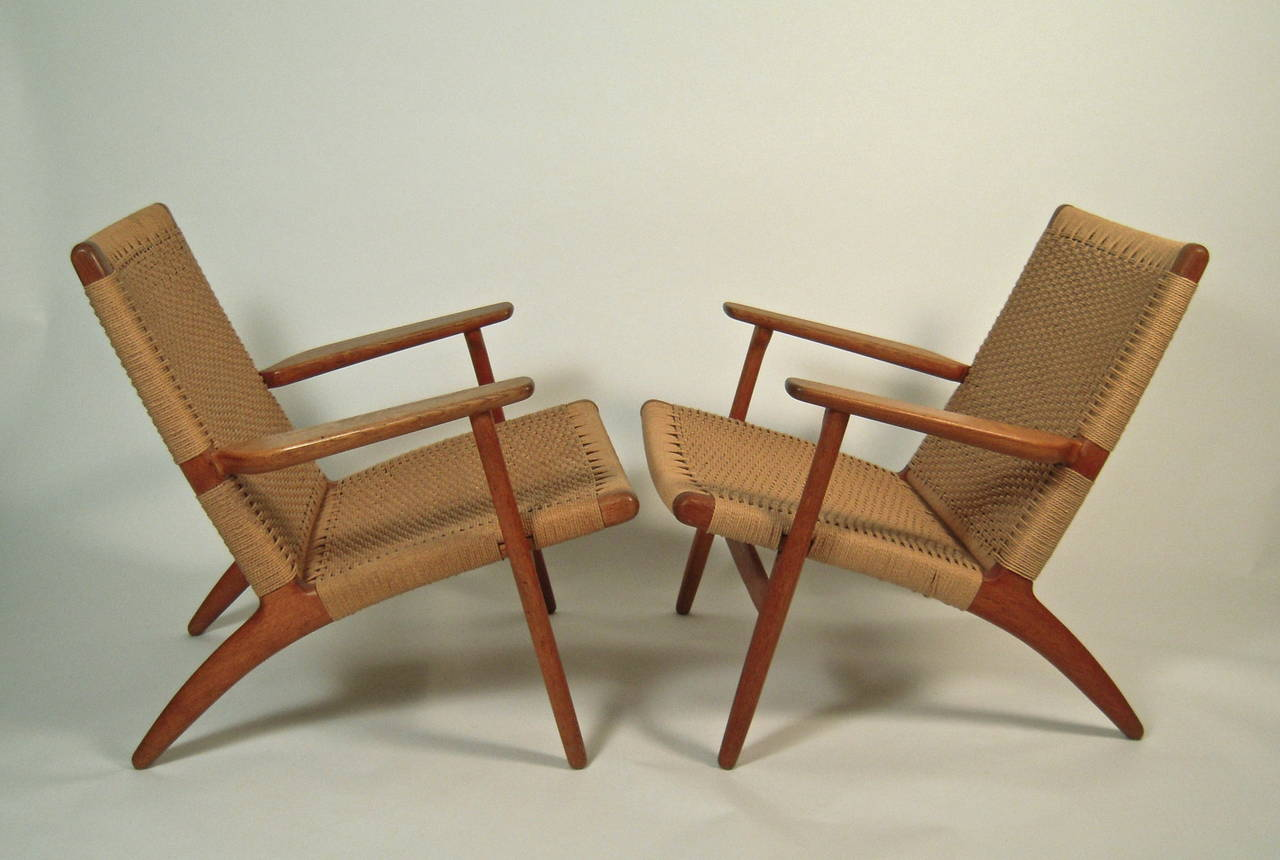 Chairs Of At Easy 1stdibs Hans Ch Wegner Pair 25 eCoWdrxB