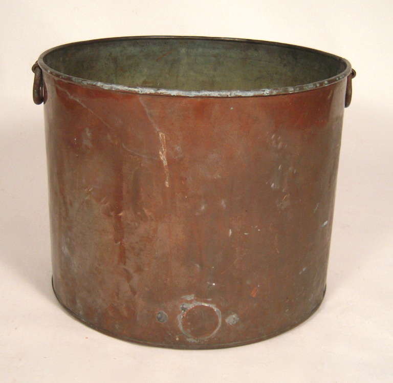 Copper Bucket For Firewood At 1stdibs