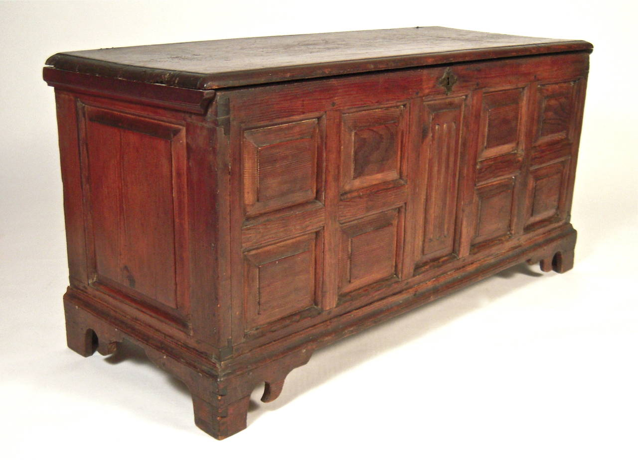 Architectural American Southern Carved Blanket Chest