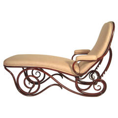 Art nouveau furniture at 1stdibs for Art nouveau chaise longue
