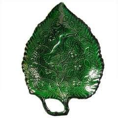 A Fine Green Glazed Staffordshire Leaf-Form Dish circa 1770